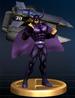Black Shadow trophy from Super Smash Bros. Brawl.