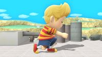 Lucas's second idle pose in Super Smash Bros. for Wii U.