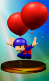 Balloon Fighter trophy from Super Smash Bros. Melee.