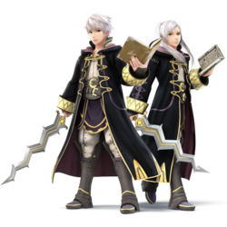 Both Robin's as they appear in Super Smash Bros. 4.