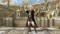 Robin's second idle pose in Super Smash Bros. for Wii U.