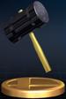 Hammer trophy from Super Smash Bros. Brawl.