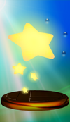 Warp Star trophy from Super Smash Bros. Melee.