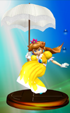 Princess Peach trophy from Super Smash Bros. Melee.