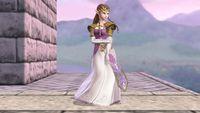Zelda's second idle pose in Super Smash Bros. for Wii U.
