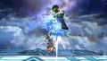 Luigi Down Aerial Meteor Smash Brawl.png