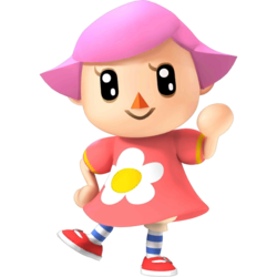The Female Villager as she appears in Super Smash Bros. 4.