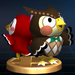 Blathers and Celeste trophy from Super Smash Bros. Brawl.