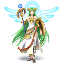 Palutena as she appears in Super Smash Bros. 4.