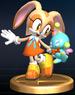 Cream the Rabbit trophy from Super Smash Bros. Brawl.
