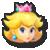 Peach's stock icon in Super Smash Bros. for Wii U.