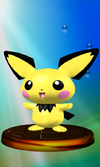 Pichu trophy from Super Smash Bros. Melee.