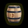 Official artwork of a Barrel from the SSBU website.