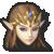 Zelda's stock icon in Super Smash Bros. for Wii U.