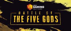 Battle of the Five Gods official logo.