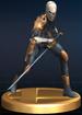 Gray Fox trophy from Super Smash Bros. Brawl.