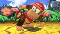 Diddy Kong's first idle pose in Super Smash Bros. for Wii U.