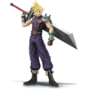 Cloud as he appears in Super Smash Bros. 4.