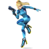 Zero Suit Samus as she appears in Super Smash Bros. 4.
