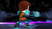Mii Gunner's first idle pose in Super Smash Bros. for Wii U.