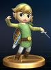 Toon Link trophy from Super Smash Bros. Brawl.