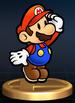 Paper Mario trophy from Super Smash Bros. Brawl.