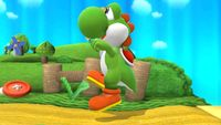 Yoshi's first idle pose in Super Smash Bros. for Wii U.