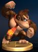 Donkey Kong trophy from Super Smash Bros. Brawl.