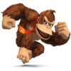 Donkey Kong as he appears in Super Smash Bros. 4.