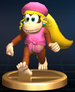 Dixie Kong trophy from Super Smash Bros. Brawl.