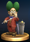 Dr. Wright trophy from Super Smash Bros. Brawl.