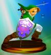 Link trophy from Super Smash Bros. Melee.