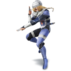 Sheik as she appears in Super Smash Bros. 4.