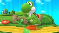 Yoshi's second idle pose in Super Smash Bros. for Wii U.