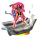 Trophy of Samus's Gravity Suit in Smash 3DS