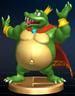 King K. Rool trophy from Super Smash Bros. Brawl.