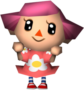 A female Villager from the Animal Crossing games.