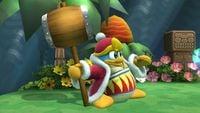 King Dedede's second idle pose in Super Smash Bros. for Wii U.