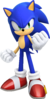 Artwork of Modern Sonic from Sonic Forces.