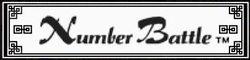 Logo for Number Battle.