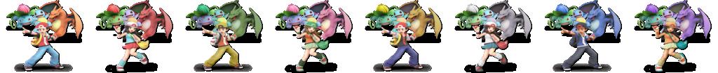 Pokémon Trainer's alternate costumes in SSBU.