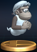 Wrinkly Kong trophy from Super Smash Bros. Brawl.