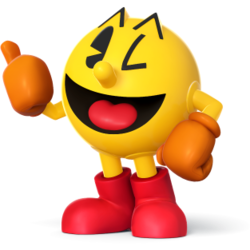 Pac-Man as he appears in Super Smash Bros. 4.