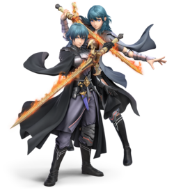 Both renders of Byleth on the same image, taken from the DLC page on the Super Smash Bros. Ultimate website.
