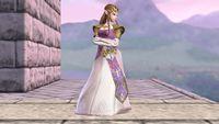 Zelda's third idle pose in Super Smash Bros. for Wii U.