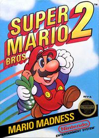 North American box-art for Super Mario Bros. 2.