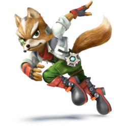 Fox as he appears in Super Smash Bros. 4.