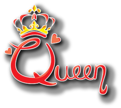 The logo for TCNJ Lions Gaming's annual charity event, Queen.