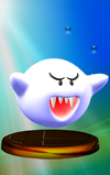 Boo trophy from Super Smash Bros. Melee.