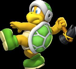 Official artwork of a Hammer Bro. from New Super Mario Bros. U.